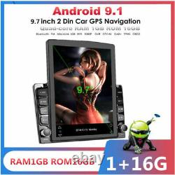 Android 9.1 1Din 9.7In BT Car Stereo Radio Sat Nav GPS WIFI Audio USB MP5 Player