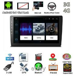 Android 9.1 2Din 10.1 BT Car Stereo Radio MP5 Player GPS Wifi Audio USB DAB DTV