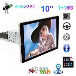 Android 9.1 Quad-Core 10in 1Din Car Stereo Radio BT WIFI MP5 Player GPS SAT NAV
