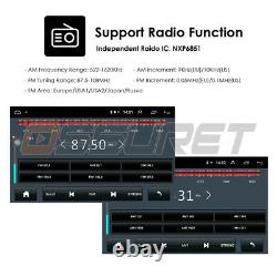 Android Double DIN 7 Car Stereo GPS Sat Nav WiFi 4G Quad core Radio+Back Camera
