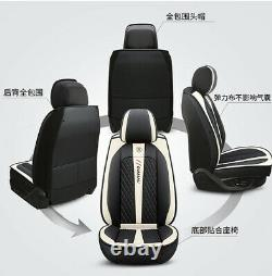 Car Accessories PU Leather Seat Covers Cushion 5 Seats Full Set Deluxe Edition