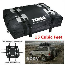 Car Roof Cargo Bag Top Carrier Rack Storage Luggage Travel Box 15 Cubic Feet
