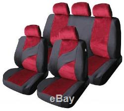 Car Seat Covers Protectors Universal Washable Ready Dog Red Velour Front Rear