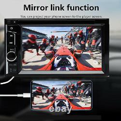 Car Stereo CD DVD Player 6.2 Double 2Din Bluetooth Radio TV Aux In + Rear Camer