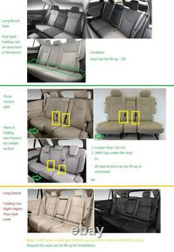 Deluxe Edition PU Leather Full Set 5D Surround 5-seats Car Seat Cover Cushions
