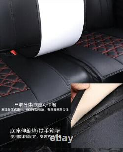 Deluxe Edition Seat Cover PU Leather Full Set Fit For Car Interior Accessories