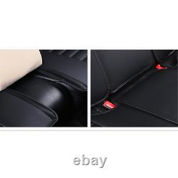 Deluxe Edition Seat Covers Black/Red PU Leather Car Front Rear Covers Breathable
