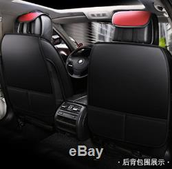 Deluxe Full Set 5D Surround Car Seat Cover Cushion Microfiber Leather Protector