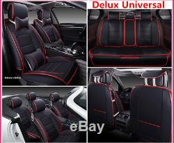 Deluxe Leather Full Set Seat Cover Cushion 5-Seats For Car Interior Accessories