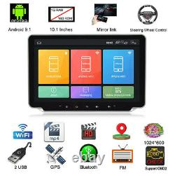 Double 2 DIN 10.1in Touch Screen Car Stereo Radio Bluetooth GPS Navi WiFi FM