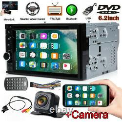 Double 2 DIN Head Unit Car Stereo CD DVD Player Touch Screen Mirror Link for GPS