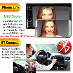 Double 2 DIN In dash Car Stereo Radio LCD CD DVD Player Bluetooth MirrorLink-GPS