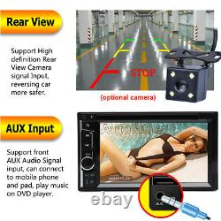 Double DIN 6.2 Car Stereo Mirror Link for GPS LCD DVD Player USB Radio + Camera