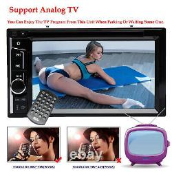 Double DIN 6.2 In dash Car Stereo Radio CD DVD LCD Player Bluetooth MP3 &Camera
