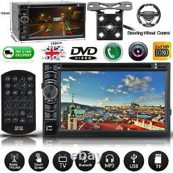 Double DIN Car Stereo Radio DVD Player Bluetooth For Ford Focus/Mondeo/S-Max