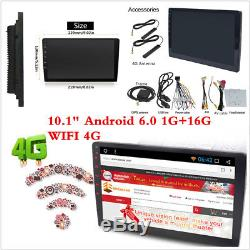 HD 10.1 Car DVD Stereo GPS Nav 2 Din Android 6.0 1+16G Radio Player 4G WIFI BT