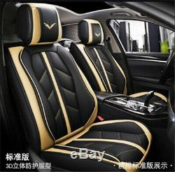 Luxury Sport Style Full Seat PU Leather Car Seat Cover Cushion Pad 6D Surround
