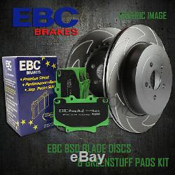 NEW EBC 300mm FRONT BSD PERFORMANCE DISCS AND GREENSTUFF PADS KIT PD16KF104