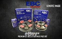 New Ebc Front And Rear Brake Discs And Pads Kit Oe Quality Replace Pd40k743