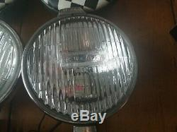 Pair of Lucas FT 6 Sealed Beam Fog Lights/Lamps Vintage, Classic Car PLUS Covers