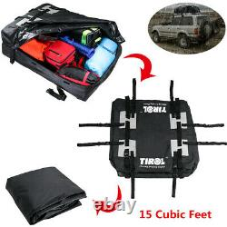 Rooftop Bag Car Top Cargo Carrier Box Waterproof Travel For Cars With Roof Rails