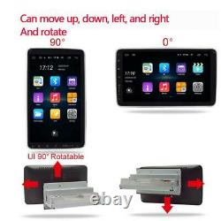 Rotatable 10in 1Din Car Stereo Radio MP5 Player Bluetooth GPS WIFI FM + Camera