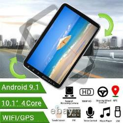 Rotatable Android 9.1 10.1In Car Stereo FM MP5 Player Bluetooth GPS Sat WithCamera
