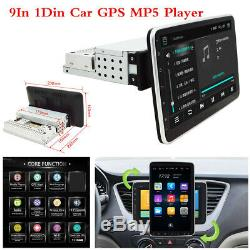 Rotatable Screen 9In 1Din Android 9.0 Car Bluetooth GPS Stereo Radio MP5 Player