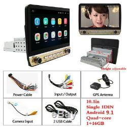 Single 1DIN 10.1in Touch Screen Bluetooth GPS Car Stereo FM Radio MP5 Player