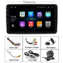 Single Din Car 10in Touch Screen Stereo Radio GPS WiFi Android 9.1 With Camera