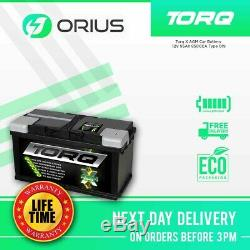 Torq X AGM Car Battery 12V 95Ah 850CCA Type 019 Free Next Day Delivery