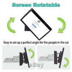 Touch Screen 10.1Single Din Quad-Core Rotatable Android 8.1 Car GPS Wifi BT DAB