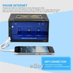 Universal 7''Double 2 DIN Touch Screen Car DVD Player Radio Stereo GPS WIFI OBD