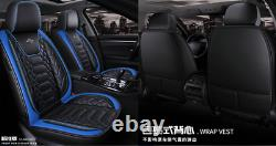 Universal Full Set Leather 6D Surrounded Seat Cover Cushions Fit For 5-Seat Cars