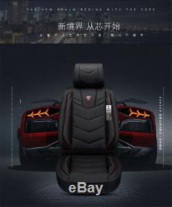 Universal fit for 5 seat Luxury PU Leather Car Seat Covers Full Seat Covers